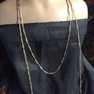 Jewelry - Gold plated chain long necklace